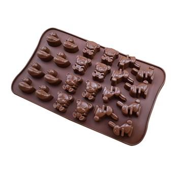 Силиконовая форма для шоколада Животные - фото 8619