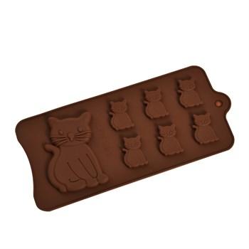 Силиконовая форма для шоколада Котики - фото 9083