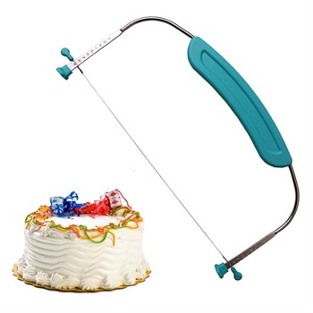 Нож-Слайсер для торта Струна с ручкой - фото 9084