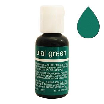 Краситель Chefmaster Liqua-Gel Teal Green - фото 9100