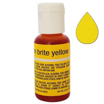 Краситель Chefmaster Liqua-Gel Neon Brite Yellow - фото 9102