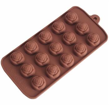 Силиконовая форма для шоколада Розочки - фото 9124