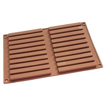 Силиконовая форма для шоколада Палочки Твикс - фото 9129