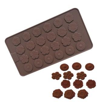 Силиконовая форма для шоколада Цветочная Поляна - фото 9144
