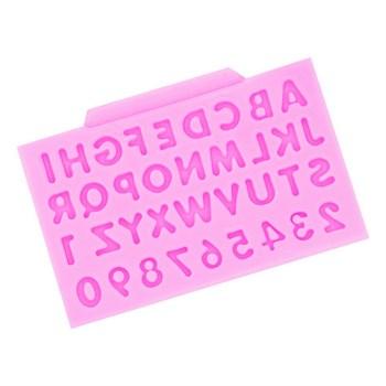 Силиконовый молд Английский Алфавит и Цифры - фото 9461