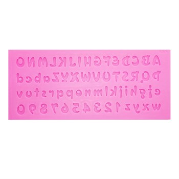 Силиконовый молд Английские буквы и Цифры - фото 9463