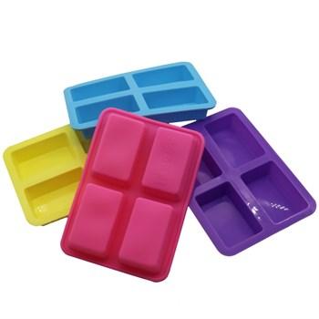 Силиконовая форма для шоколада 4 Прямоугольника - фото 9507
