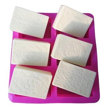 Силиконовая форма для мыла Узоры - фото 9508