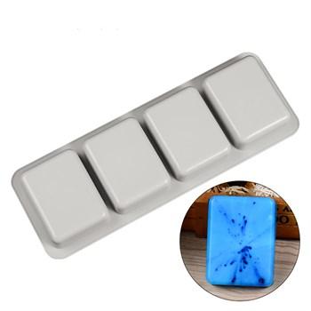 Силиконовая форма для мыла 4 Квадрата - фото 9516
