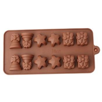 Силиконовая форма для шоколада Подарок - фото 9551