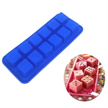 Силиконовая форма для шоколада и льда Кубики - фото 9560