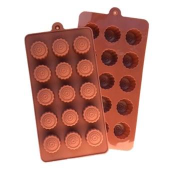 Силиконовая форма для шоколада Конфетки с узором - фото 9562