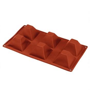 Силиконовая форма для выпечки Пирамиды (6 ячеек) - фото 9595