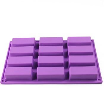 Силиконовая форма для выпечки 12 прямоугольников - фото 9636