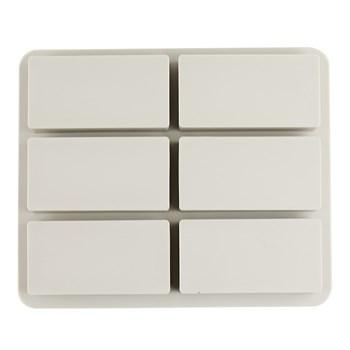 Силиконовая форма для мыла Прямоугольники 6 шт. - фото 9644