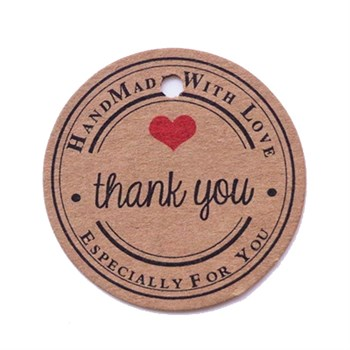 Этикетка-бирка thank you (25 шт) - фото 9683
