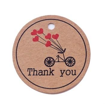 Этикетка-бирка Thank you (25 шт) - фото 9687