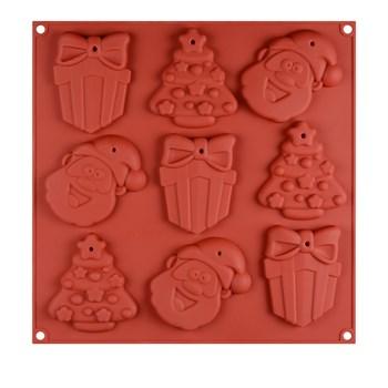 Силиконовая форма для шоколада Новый Год №3 - фото 9720