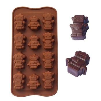 Силиконовая форма для шоколада Роботы - фото 9731