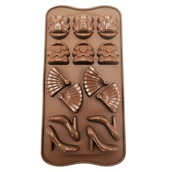 Силиконовая форма для шоколада Женский Набор - фото 9739