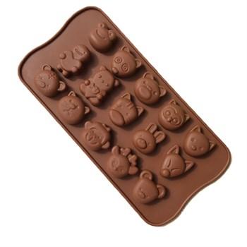 Силиконовая форма для шоколада Животные (Детёныши) - фото 9749
