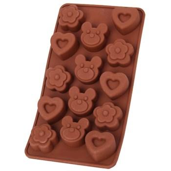 Силиконовая форма для шоколада Медвежонок - фото 9751