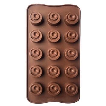 Силиконовая форма для шоколада Конфетки Радужные - фото 9757