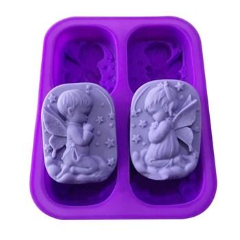 Силиконовая форма для мыла Ангелы - фото 9828