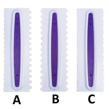 Пластиковый зубчатый скребок - фото 9870