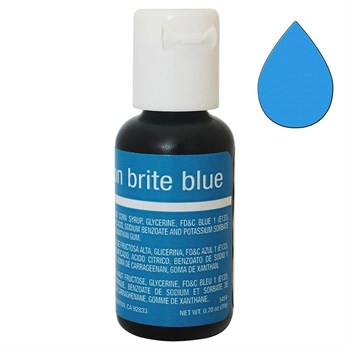 Краситель Chefmaster Liqua-Gel Brite Blue - фото 9921