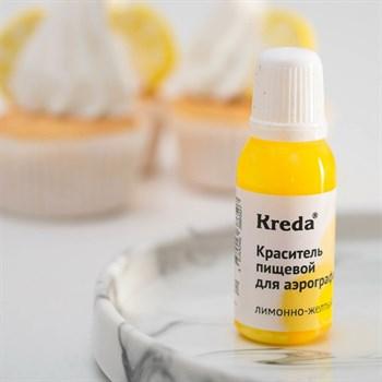 """Краситель пищевой для аэрографа """"Kreda"""" (лимонно-желтый) - фото 9968"""