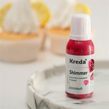 """Краситель-шиммер пищевой гелевый """"Kreda"""" (розовый) - фото 9992"""