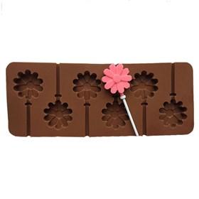 Силиконовая форма для шоколада Цветок леденец
