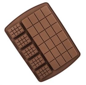 Силиконовая форма для шоколада Плитка двойная
