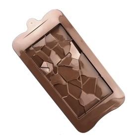 Силиконовая форма для шоколада Плитка №2