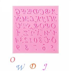Силиконовый молд Буквы и Цифры (Английские)