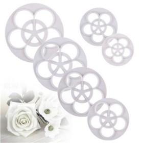 Набор из 6 формочек для вырубки Цветок розы