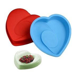 """Силиконовая форма для выпечки """"Две половинки сердца"""""""