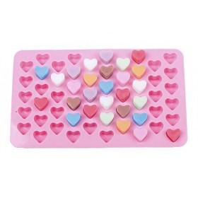 Силиконовая форма для шоколада (Сердечки)
