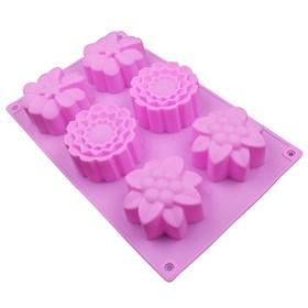 Силиконовая форма для выпечки Цветочки