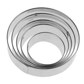 Форма для печенья Круг (металл) 5 шт