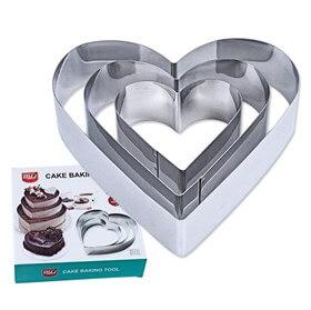 Металлический набор Сердце 3 шт