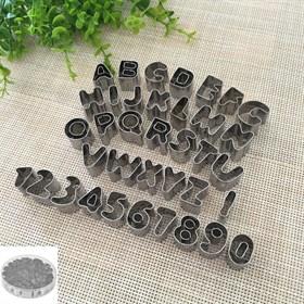 Набор металлических вырубок Алфавит английский + Цифры