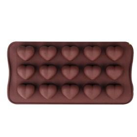 Силиконовая форма для шоколадных конфет Сердца