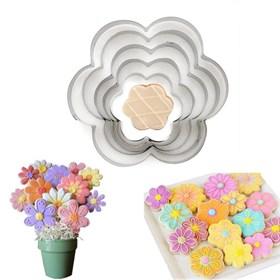 Формы для печенья Цветы (металл) 5 шт