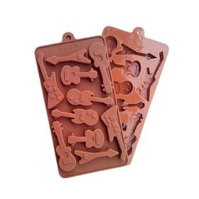 Силиконовая форма для шоколада Гитары