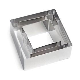 Металлический набор для печенья Квадрат (3 шт)