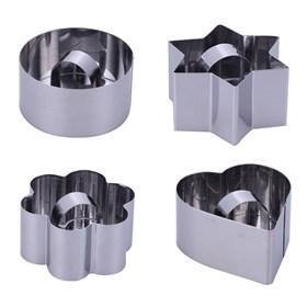 Набор металлических форм для пудинга (пресс)