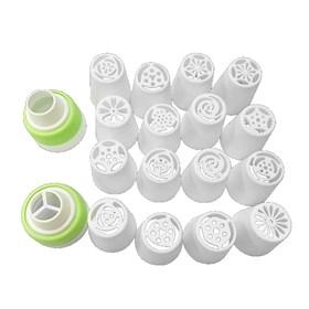 Набор пластиковых кондитерских насадок 16 насадок+ переходник