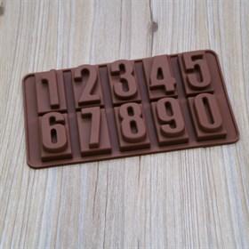 Силиконовая форма для шоколада Цифры выпуклые
